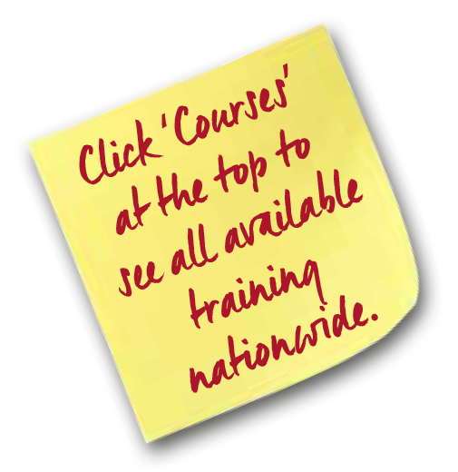 Click 'Courses' at the top to see all available training nationwide